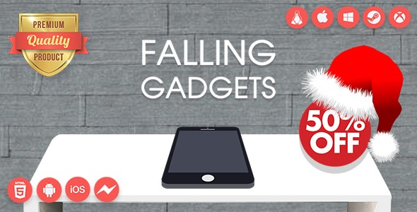 Falling Gadgets - Premium HTML5 game + Mobile Version - Non-Exclusive License - CodeCanyon Item for Sale