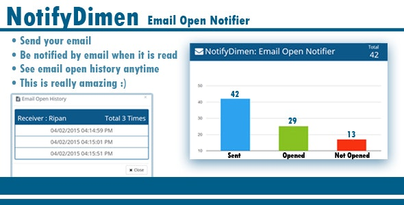 NotifyDimen  Email Open Notifier - CodeCanyon Item for Sale
