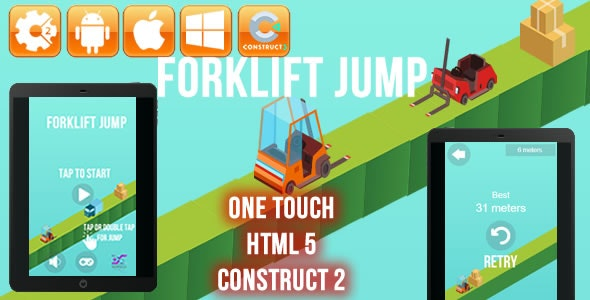 Forklift Jump - HTML5 Game (CAPX) - CodeCanyon Item for Sale