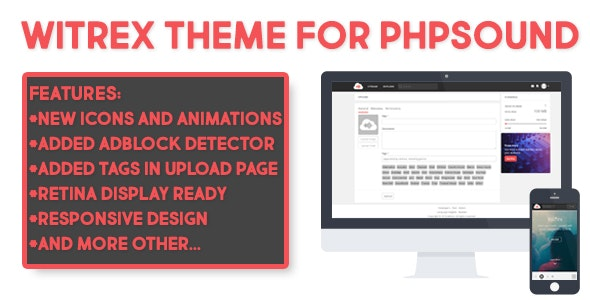 Witrex Theme for phpSound - CodeCanyon Item for Sale