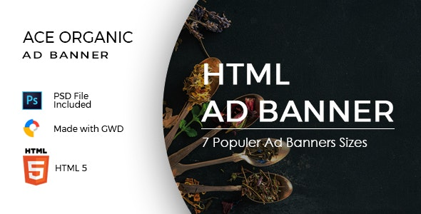 Ace Organic Google Ad Template - CodeCanyon Item for Sale