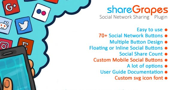 shareGrapes - Social Media Sharing Plugin