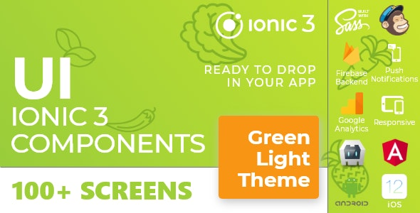 Green Light - Ionic 3 / Angular 6 UI Theme / Template App - Multipurpose Starter App - CodeCanyon Item for Sale