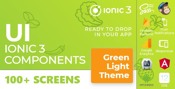 Green Light - Ionic 3 / Angular 6 UI Theme / Template App - Multipurpose Starter App
