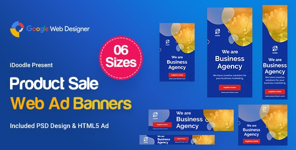 Business Agency Banners Ad - Google Web Design - CodeCanyon Item for Sale