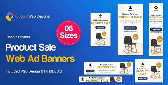 Product Sale Banners Ad - Google Web Design