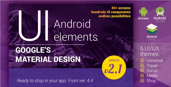 Material Design UI Android Template App - CodeCanyon Item for Sale