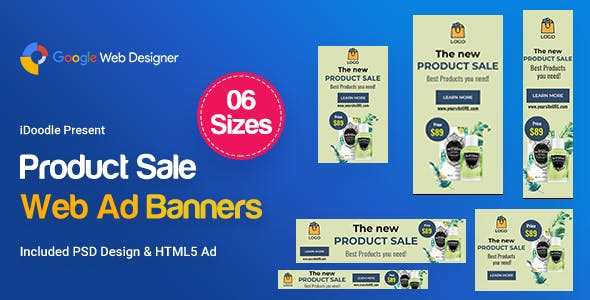 Product Sale Banners Ad - GWD by iDoodle