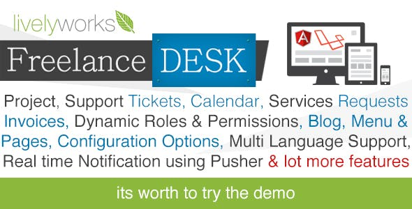 FreelanceDesk - Support System | Project Management | CRM