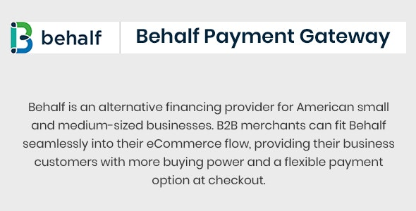 Behalf Payment Gateway - CodeCanyon Item for Sale