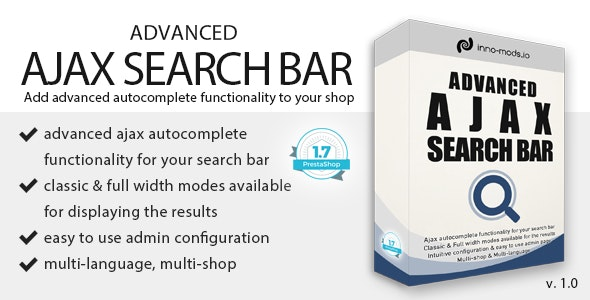 Advanced Ajax Search Bar for Prestashop - CodeCanyon Item for Sale