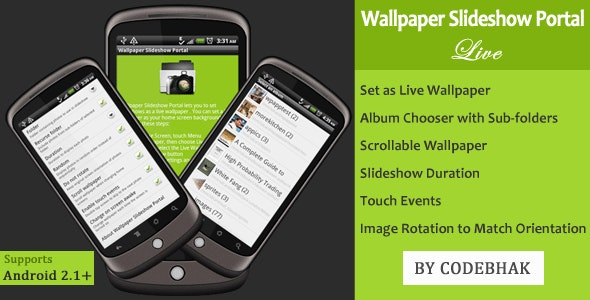 Wallpaper Slideshow Portal for Android - CodeCanyon Item for Sale