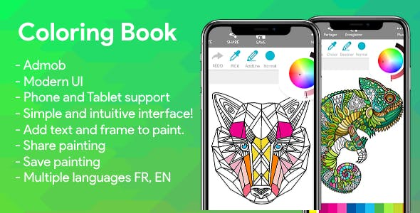 Coloring Book Android with Admob