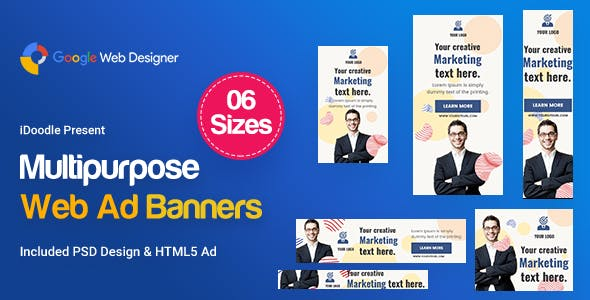 Multi Purpose Banners HTML5 D32 - GWD & PSD