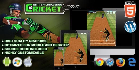 Cricket Batter Challenge - HTML5 Sport Game - CodeCanyon Item for Sale