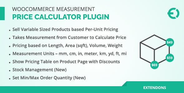 WooCommerce Measurement Price Calculator Plugin - CodeCanyon Item for Sale
