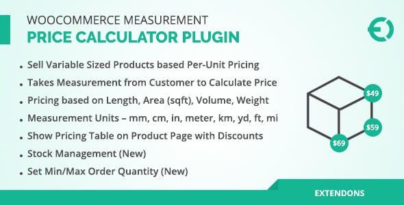 WooCommerce Measurement Price Calculator Plugin, Price Per Unit
