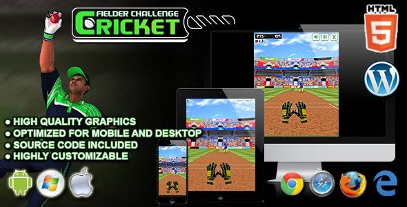 Cricket Fielder Challenge - HTML5 Sport Game - CodeCanyon Item for Sale
