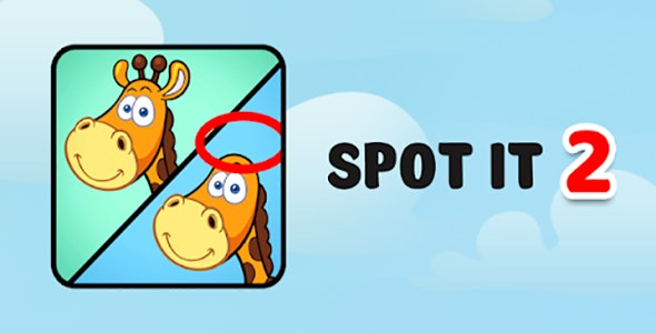 Spot It - Admob - Android & Ios Game (Buildbox Included) - CodeCanyon Item for Sale
