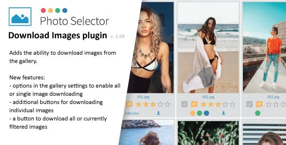 Download images plugin for Photo Selector