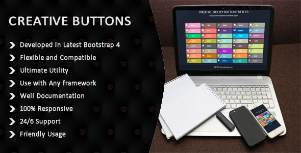 CSS3 And Bootstrap 4 Buttons - CodeCanyon Item for Sale