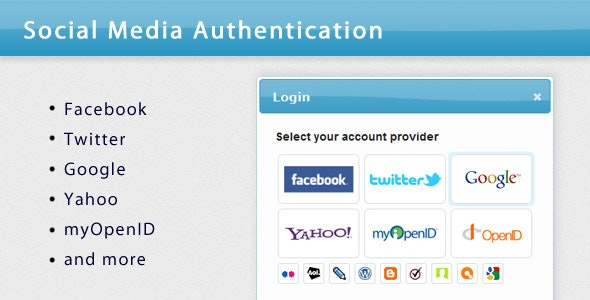 Social Media Authentication - CodeCanyon Item for Sale
