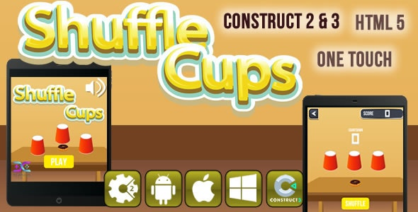 Shuffle Cups - HTML5 Game (CAPX) - CodeCanyon Item for Sale