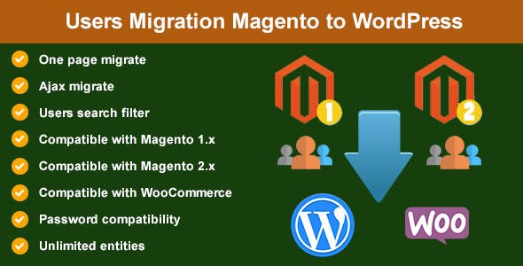 Users Migration from Magento to WordPress