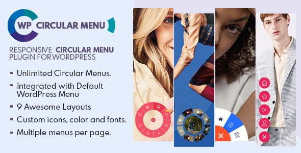 WP Circular Menu - Responsive Circular Menu Plugin for WordPress - CodeCanyon Item for Sale