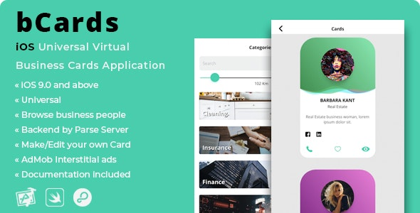 bCards | iOS Virtual Business Cards Application - CodeCanyon Item for Sale