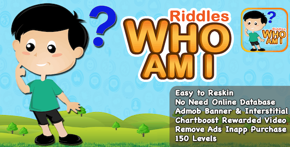 Riddles Who Am I + Best Riddle Game For Kids + IOS Version