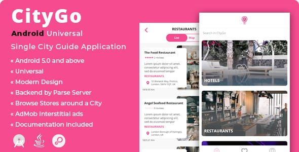 CityGo   Android Single City Guide Store Finder Application