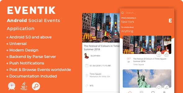 Eventik | Android Social Events Application