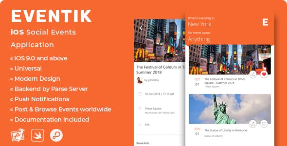 Eventik | iOS Social Events Application - CodeCanyon Item for Sale