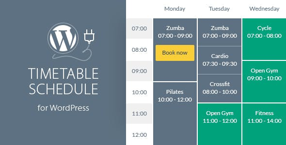 Timetable Responsive Schedule For WordPress        Nulled