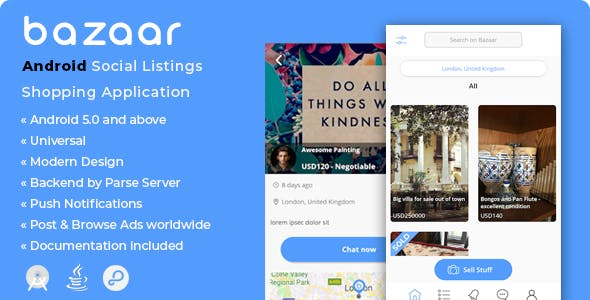 Bazaar | Android Social Listings Shopping Application