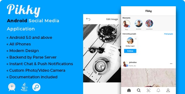 Pikky | Android Instagram-like Social Media Application - CodeCanyon Item for Sale