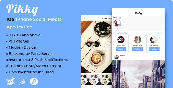 Pikky | iOS iPhone Instagram-like Social Media Application