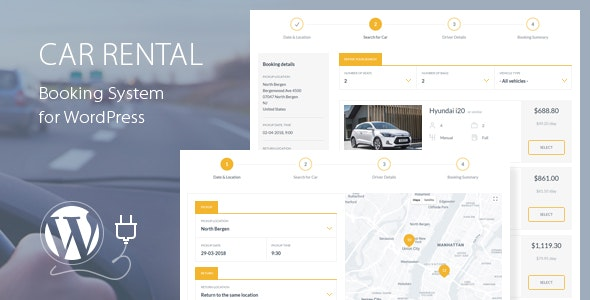 Car Rental Booking System for WordPress by QuanticaLabs