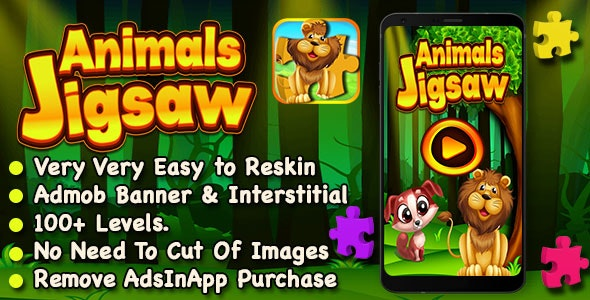 Animal Jigsaw Puzzle Game For Kids + IOS Version - CodeCanyon Item for Sale
