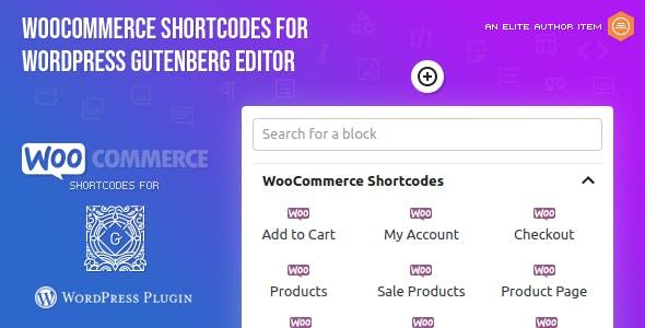 WooCommerce Shortcodes for Gutenberg