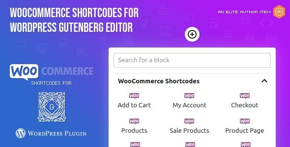WooCommerce Shortcodes for Gutenberg - CodeCanyon Item for Sale