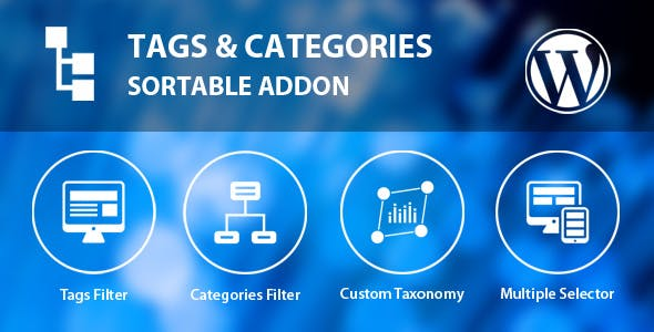 Tags & Categories Sortable Addon