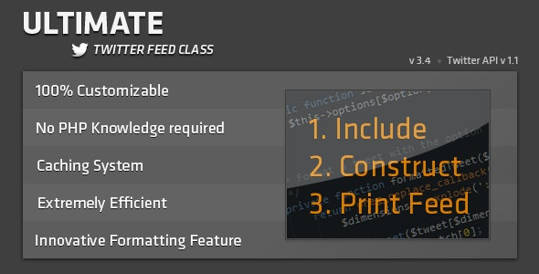 Ultimate Twitter Feed Class - CodeCanyon Item for Sale