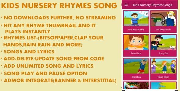 Kids Nursery Rhymes Song - CodeCanyon Item for Sale