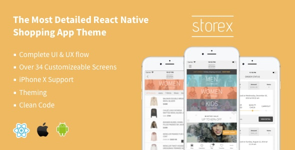 StoreX - React Native eCommerce App Template - CodeCanyon Item for Sale