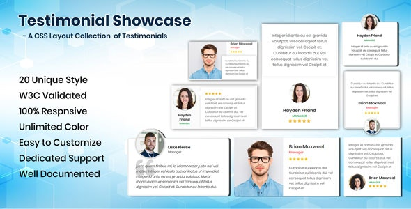 Testimonials CSS Showcase - CodeCanyon Item for Sale