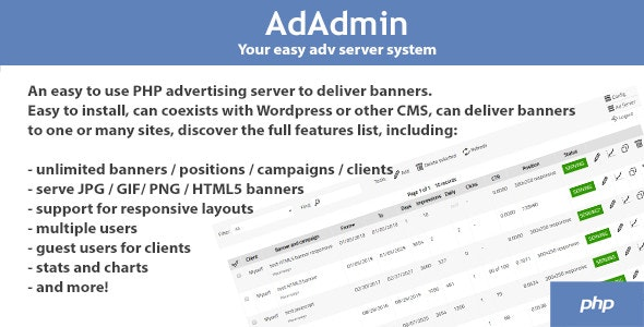 AdAdmin - Easy adv server (adversting platform) - CodeCanyon Item for Sale