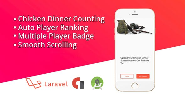 PUB G-Chicken Dinner Ranking - CodeCanyon Item for Sale