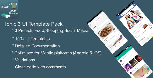 Ionic 3 UI Template Pack